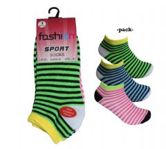 Ladies stripes style trainer socks summer sport trainer socks